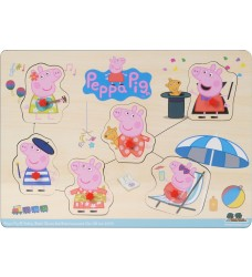 Peppa Pig - Dress Up Pin Puzzle