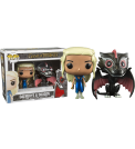 Funko Pop! | Game of Thrones - Drogon & Mhysa Metal Pop! Vinyl Figures 2-Pack | FUN5781