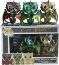 Game of Thrones - Metallic Dragon Pop! 3Pk Vinyl